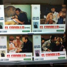 Cine: EL CANALLA CLAUDE LELOUCH JEAN LOUS TRINTIGNANT JUEGO COMPLETO 10. Lote 51962403