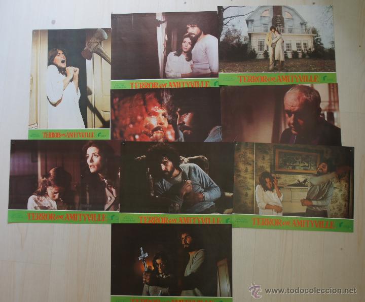 Cine: TERROR EN AMITYVILLE - 9 FOTOCROMOS ORIGINALES - Foto 2 - 51979670