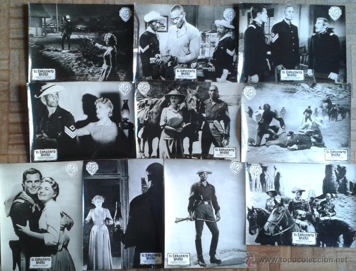 EL SARGENTO NEGRO. 10 FOTOS 18X24. JOHN FORD. WOODY STRODE, JEFFREY HUNTER (Cine - Fotos y Postales de Actores y Actrices)
