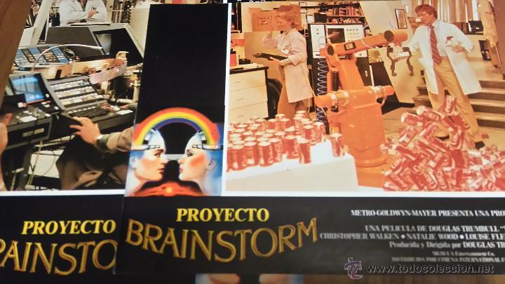 PROYECTO BRAINSTORM. 3 FOTOCROMOS O FOTOGRAMAS. ORIGINALES (Cine - Fotos, Fotocromos y Postales de Películas)