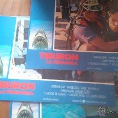 Cinéma: TIBURÓN. LA VENGANZA. 7 FOTOCROMOS O FOTOGRAMAS. ORIGINALES. MOVIE. Lote 52495631