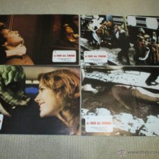 Cine: EL TREN DEL TERROR, BEN JOHNSON, JAMIE LEE CURTIS, ROGER SPOTTISWOODE, 6 FOTOCROMOS, LOBBY CARDS. Lote 53032786