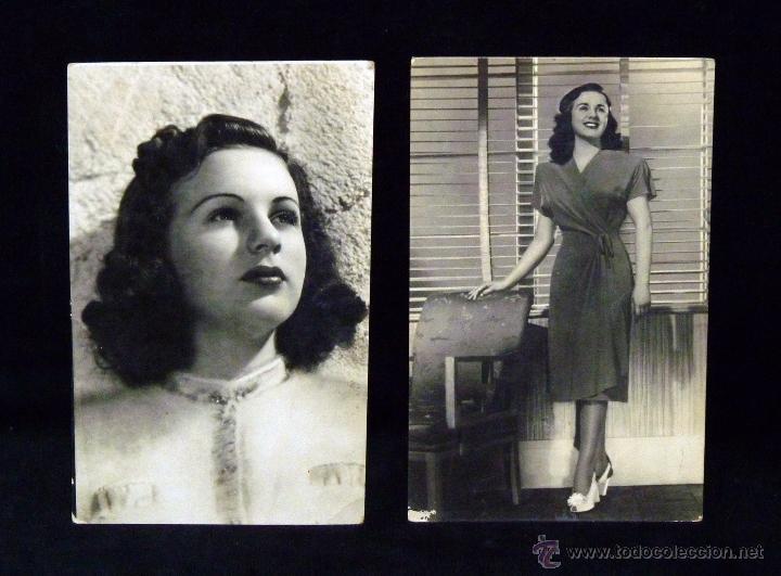 LOTE DE 2 POSTALES DE LA ACTRIZ Y CANTANTE DIANA DURBIN, NÚM. 129 Y 252, AÑOS 40 (Cine - Fotos y Postales de Actores y Actrices)