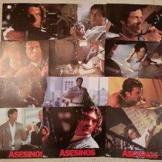 Cine: 12 CARTEL DE CINE ASESINOS SYLVESTER STALLONE ANTONIO BANDERAS FOTOCROMOS CARTELERA AFICHES PELICULA. Lote 53405879
