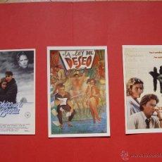 Cine: 3 TARJETAS - FOLLETOS DE MANO. CINE, ESTRENO (1984-87) ¡SIN CIRCULAR! ¡ORIGINALES!. Lote 53504405