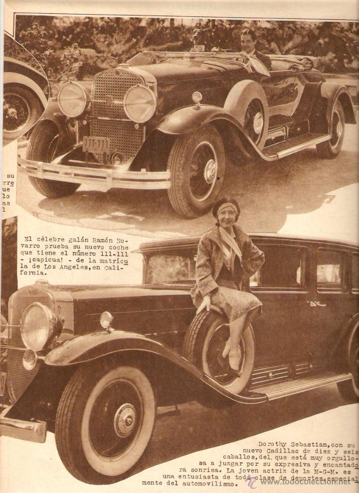 Cine: AÑO 1930 CINE DOLORES COSTELLO ARTISTAS Y SUS COCHES LUPE VELEZ RAMON NOVARRO HOOT GIBSON CLARA BOW - Foto 2 - 53604471