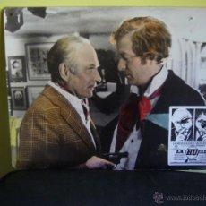Cine: LA HUELLA MICHAEL CAINE LAURENCE OLIVIER FOTOCROMO ORIGINAL EN CARTON DURO (19). Lote 53637652