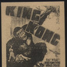 Cine: P-6008- KING KONG (FAY WRAY - ROBERT ARMSTRONG - BRUCE CABOT - NOBLE JOHNSON - JAMES FLAVIN). Lote 53688931