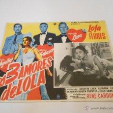 Cine: LOS TRES AMORES DE LOLA-LOLA FLORES - FOTOCROMO LOBBY CARD MINI POSTER. Lote 53772749