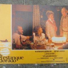Cine: FOTOCROM PELICULA EN EL ESTANQUE DORADO ,KATHERINE HEPBURN ,HENRI FONDA. Lote 53992518