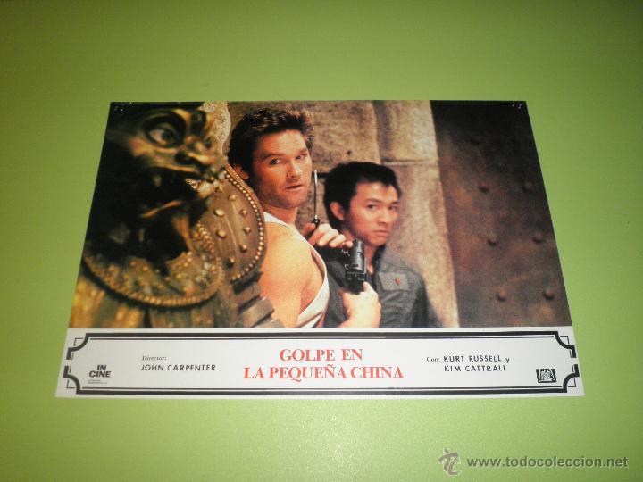 LOTE 2 FOTOCROMOS GOLPE EN LA PEQUEÑA CHINA JOHN CARPENTER KURT RUSSELL FOTOCROMO CINE (Cine - Fotos, Fotocromos y Postales de Películas)