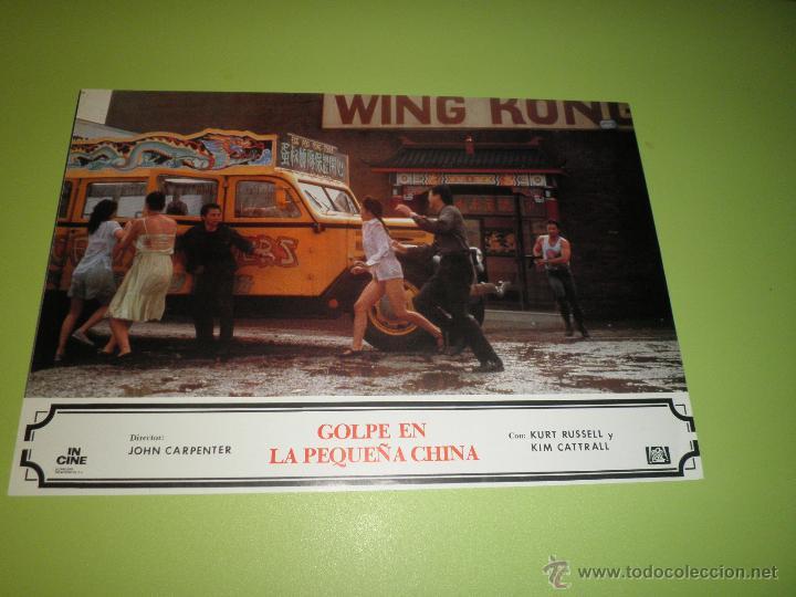 Cine: LOTE 2 FOTOCROMOS GOLPE EN LA PEQUEÑA CHINA John Carpenter KURT RUSSELL FOTOCROMO CINE - Foto 2 - 54270940