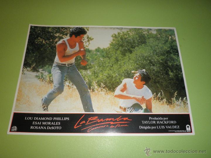 Cine: LOTE 7 FOTOCROMOS LA BAMBA Ritchie Valens Lou Diamond Phillips LOS LOBOS FOTOCROMO CINE - Foto 4 - 54271218