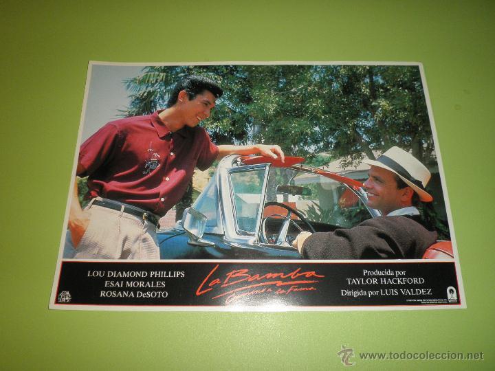 Cine: LOTE 7 FOTOCROMOS LA BAMBA Ritchie Valens Lou Diamond Phillips LOS LOBOS FOTOCROMO CINE - Foto 6 - 54271218