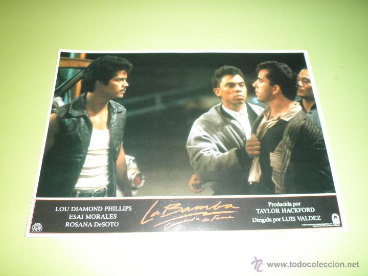 Cine: LOTE 7 FOTOCROMOS LA BAMBA Ritchie Valens Lou Diamond Phillips LOS LOBOS FOTOCROMO CINE - Foto 7 - 54271218