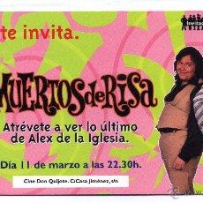 Cine: MUERTOS DE RISA, CON GRAN WYOMING.. Lote 118425030