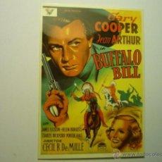 Cinéma: POSTAL BUFFALO BILL -GARY COOPER. Lote 160864708