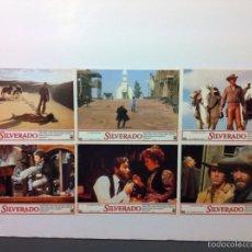 Cine: LOTE 6 FOTOCROMOS SILVERADO LOBBY CARDS. Lote 55000820