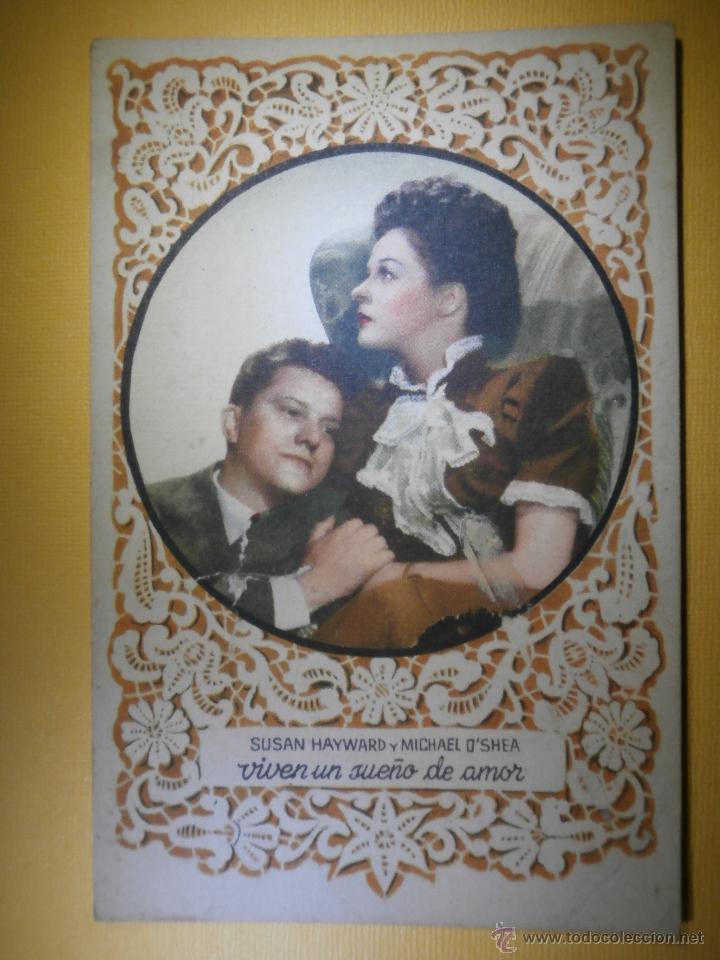POSTAL - SUSAN HAYWARD Y MICHAEL O´SHEA VIVEN UN SUEÑO DE AMOR - PD SERIE 1037 - NUEVA - (Cine - Fotos y Postales de Actores y Actrices)