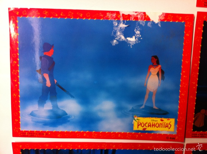 Cine: Lote 10 fotocromos POCAHONTAS lobby cards DISNEY - Foto 2 - 55054189