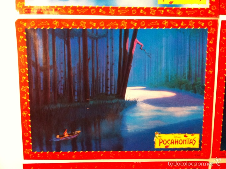 Cine: Lote 10 fotocromos POCAHONTAS lobby cards DISNEY - Foto 3 - 55054189