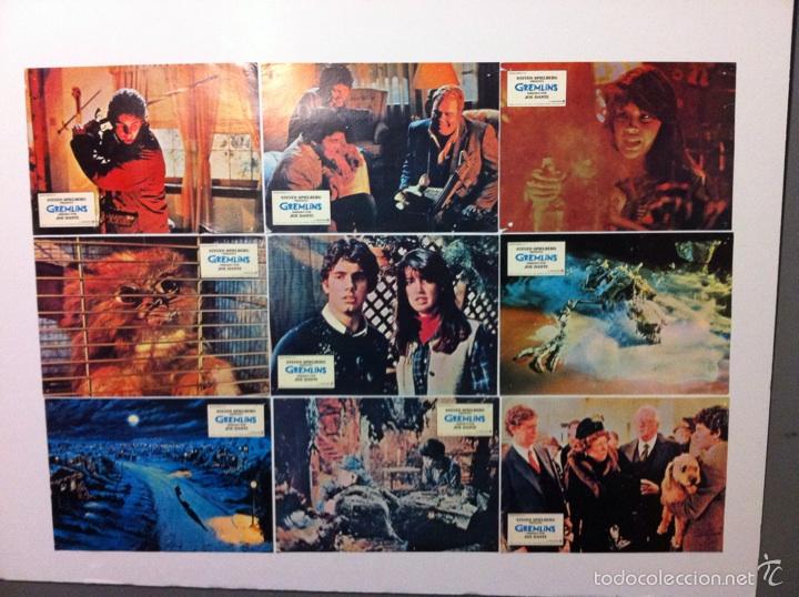 LOTE 9 FOTOCROMOS GREMLINS ORIGINAL LOBBY CARDS (Cine - Fotos, Fotocromos y Postales de Películas)