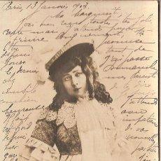 Cine: ACTRIZ, J HADING, FOTO REUTLINGER SIP 114/20 - CIRCULADA 1903 - SIN DIVIDIR. Lote 55055737