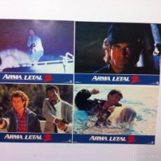 Cine: LOTE 4 FOTOCROMOS ARMA LETAL LOBBY CARDS LETHAL WEAPON. Lote 55060209