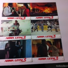 Cine: LOTE 12 FOTOCROMOS ARMA LETAL 3 LOBBY CARDS LETHAL WEAPON. Lote 55060522
