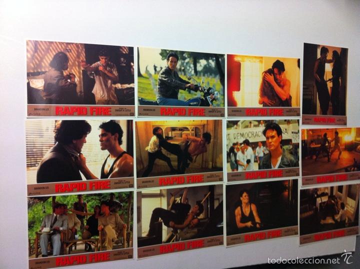 LOTE 12 FOTOCROMOS RAPID FIRE LOBBY CARDS BRANDON LEE (Cine - Fotos, Fotocromos y Postales de Películas)