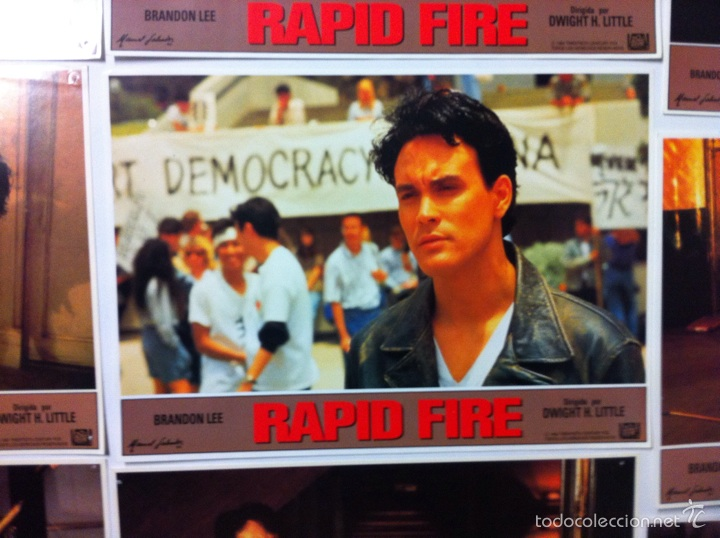 Cine: Lote 12 fotocromos RAPID FIRE lobby cards Brandon Lee - Foto 9 - 55062631