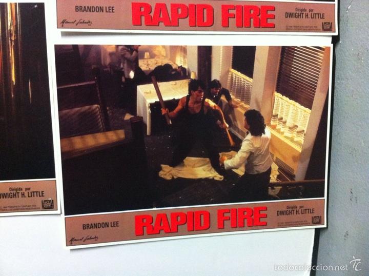 Cine: Lote 12 fotocromos RAPID FIRE lobby cards Brandon Lee - Foto 11 - 55062631