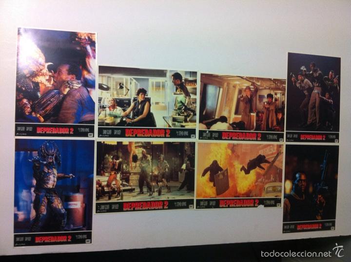 LOTE 8 FOTOCROMOS DEPREDADOR 2 LOBBY CARDS PREDATOR 2 (Cine - Fotos, Fotocromos y Postales de Películas)