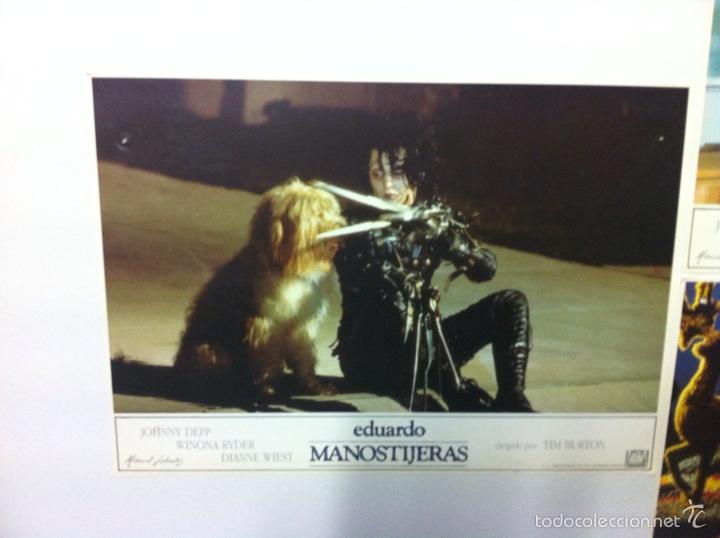 Cine: Lote 5 fotocromos EDUARDO MANOSTIJERAS lobby cards Tim burton - Foto 2 - 55111453