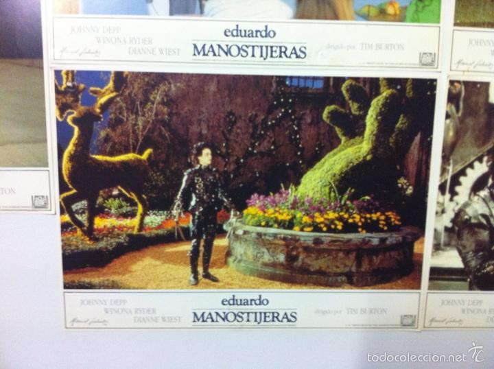Cine: Lote 5 fotocromos EDUARDO MANOSTIJERAS lobby cards Tim burton - Foto 3 - 55111453