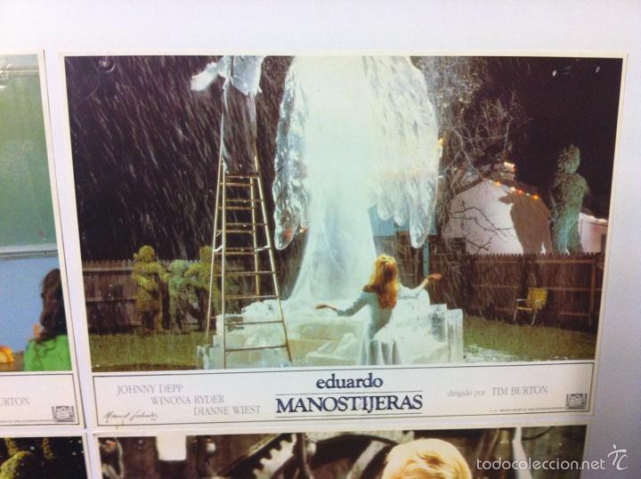 Cine: Lote 5 fotocromos EDUARDO MANOSTIJERAS lobby cards Tim burton - Foto 5 - 55111453