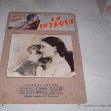 Cine: IMPRESIONANTE CARTELERA DE CARTÓN LA INTRUSA, POR GLORIA SWANSON. AÑOS 20. CINE MUDO. Lote 55152502