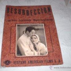 Cine: CARTELERA DE CARTÓN RESURECCIÓN, POR LUPE VÉLEZ. AÑOS 20, DE HISPANO AMERICAN FILMS. CINE MUDO. Lote 55152530