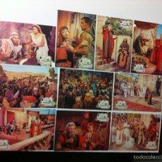 Cine: LOTE 10 FOTOCROMOS LOS DIEZ MANDAMIENTOS LOBBY CARDS. Lote 55355851