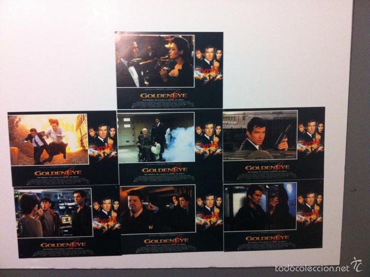 LOTE 7 FOTOCROMOS GOLDENEYE 007 JAMES BOND LOBBY CARDS PIERCE BROSNAN (Cine - Fotos, Fotocromos y Postales de Películas)