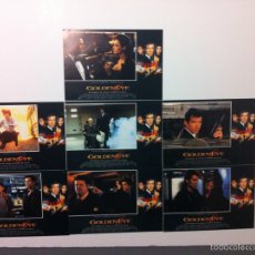 Cine: LOTE 7 FOTOCROMOS GOLDENEYE 007 JAMES BOND LOBBY CARDS PIERCE BROSNAN. Lote 55376440