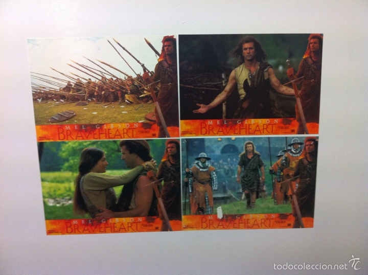 Cine: Lote 4 fotocromos BRAVEHEART lobby cards MEL GIBSON - Foto 1 - 55376511