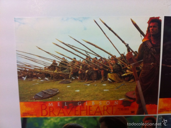 Cine: Lote 4 fotocromos BRAVEHEART lobby cards MEL GIBSON - Foto 2 - 55376511