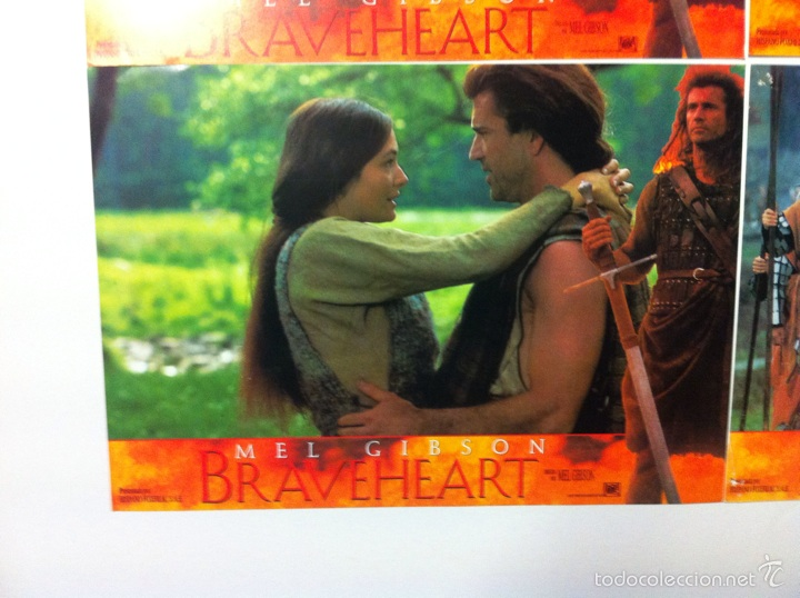 Cine: Lote 4 fotocromos BRAVEHEART lobby cards MEL GIBSON - Foto 3 - 55376511