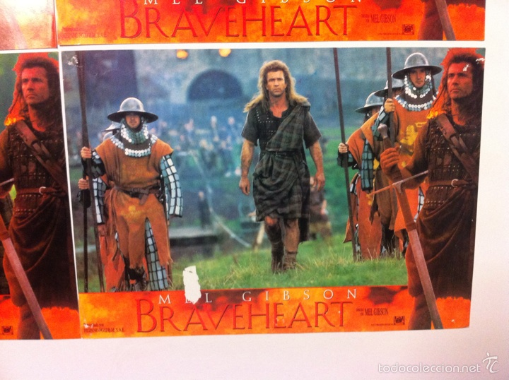 Cine: Lote 4 fotocromos BRAVEHEART lobby cards MEL GIBSON - Foto 4 - 55376511