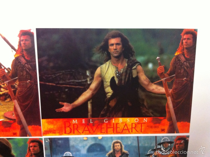 Cine: Lote 4 fotocromos BRAVEHEART lobby cards MEL GIBSON - Foto 5 - 55376511