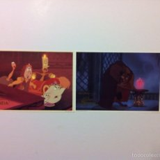 Cine: LOTE 2 FOTOCROMOS LA BELLA Y LA BESTIA LOBBY CARDS DISNEY. Lote 55376653