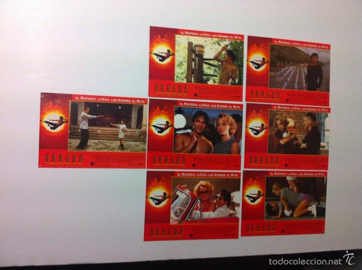 LOTE 7 FOTOCROMOS DRAGON LA VIDA DE BRUCE LEE LOBBY CARDS (Cine - Fotos, Fotocromos y Postales de Películas)
