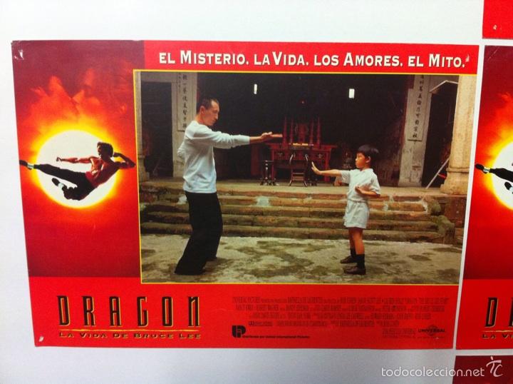 Cine: Lote 7 fotocromos DRAGON LA VIDA DE BRUCE LEE lobby cards - Foto 2 - 55376699