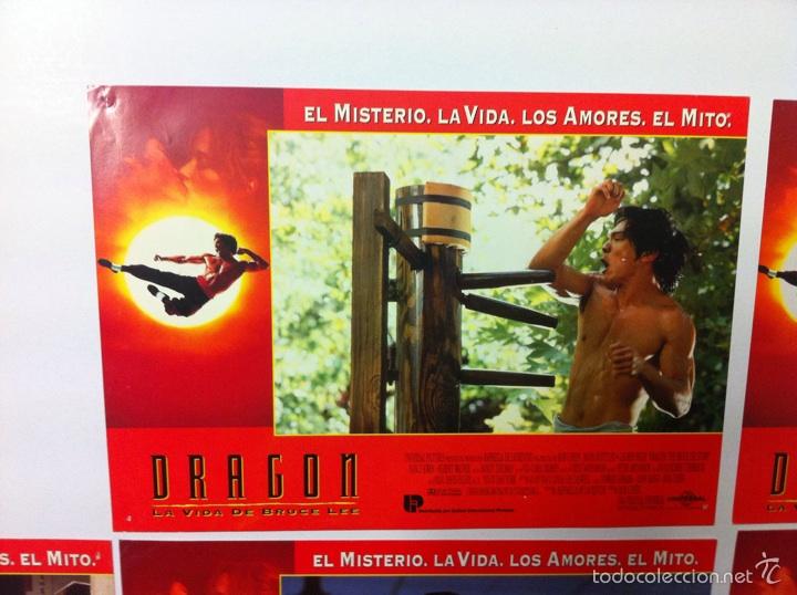 Cine: Lote 7 fotocromos DRAGON LA VIDA DE BRUCE LEE lobby cards - Foto 3 - 55376699